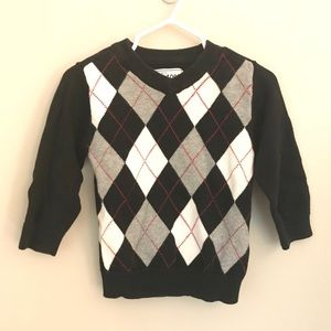 The Children's Place Toddler Argyle Black Sweater